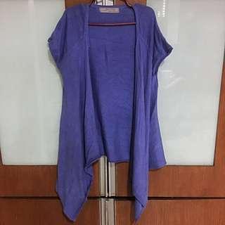 (REPRICED) Zara short-sleeved fashion cardigan (OP: 500)