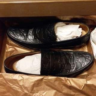 Gucci 男裝39號 黑色皮鞋