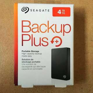 4TB Seagate Back Up Plus Hard disk drive