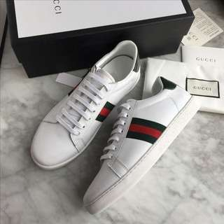 Gucci Ace Web Trainers Unisex