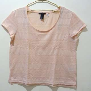 H&M Millenial Pink Shirt (Size Small)
