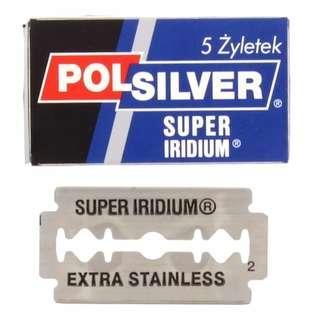 Polsilver Super Iridium Double Edge Razor Blades (5 blades)