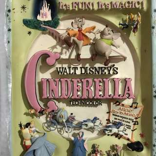 Vintage Sculpted 3D Cinderella 1965 Movie Poster by Code 3 Collectibles