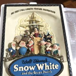 1937 Sculpted 3D Snow White and Seven Dwarfs poster from Code 3 Collectibles