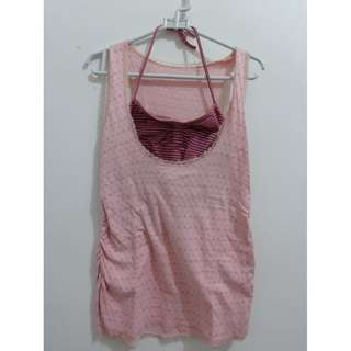 Pink Top / Atasan Sleeveless / Tank Top
