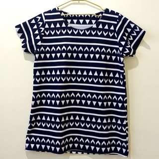 Korean Aztec Long Shirt (Free Size)