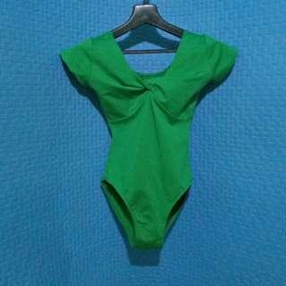 emerald green swimsuit one-piece