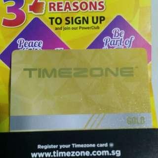 Timezone arcade gold power card