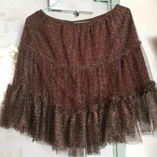 紗紗豹紋半截裙