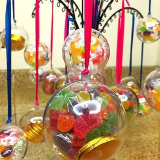 XMAS PROMO! Clear round plastic baubles set! Make your own bath bomb