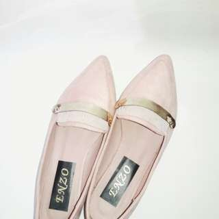 Enzo Pointed Pink Loafers
