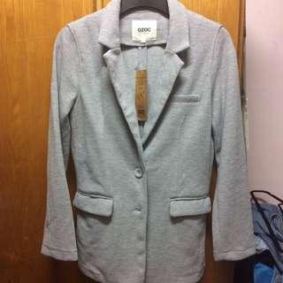 OZOC 全新未剪牌 $50 灰色西裝款外套