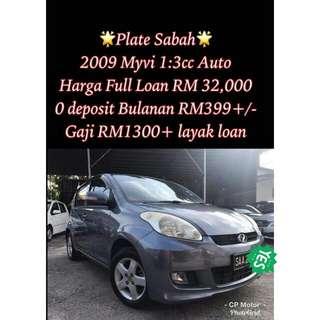 Sabah Plate! 2009 Myvi 1:3Cc Auto
