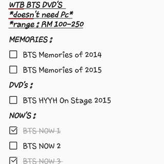 WTB/LF BTS Memories,HYYH On Stage,Now 2