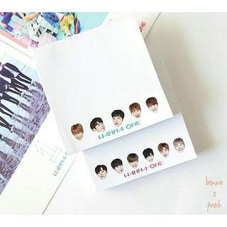 WANNA ONE NOTEPAD SET