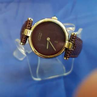 Authentic Vintage Cartier Watch with leather strap