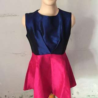 Dress Satin Two Tone