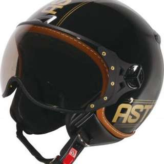 ASTONE KSR DD52 來自法國 3/4罩 MOMO飛行員安全帽 素黑 彈性黑