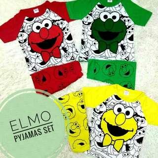 Boy Girl Elmo Pyjamas Set