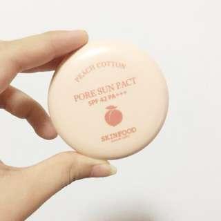Peah cotton sun pact powder skin food