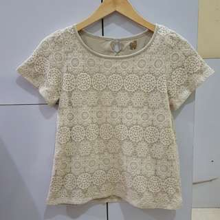 Blouse lace ada furing.like new.bisa barter