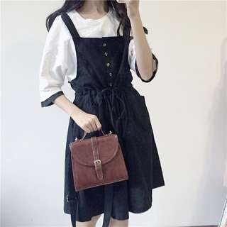 Plain Cotton Pinafore