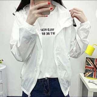 [BN] White Hoodie Jacket
