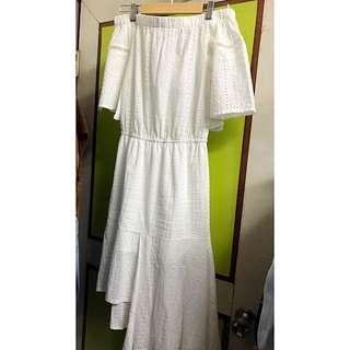 氣質白色洋裝#我的女裝可超取#全新五折出售