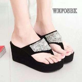 Sepatu Wanita Wedges Blink WEF05BK