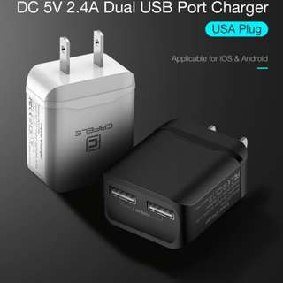 Free Shipping CAFELE 2 in 1 USB Charger Plug