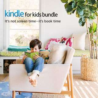 Kindle for Kids Bundle with the latest Kindle E-reader, 2-Year Worry-Free Guarantee, Black Cover