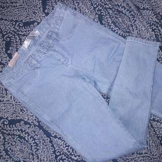 Light Denim Glittery Pants