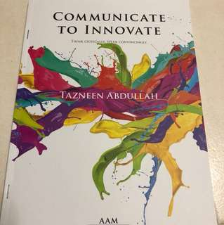 Communication to innovate (English oral)
