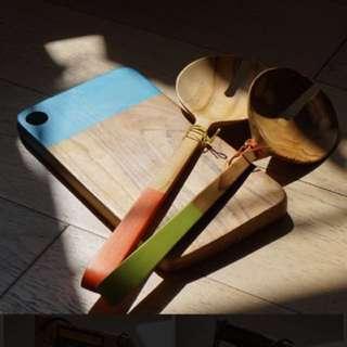 ALUN ALUN 精品木制沙律餐具及芝士木墊
