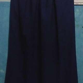 chiffon skirt || electric blue
