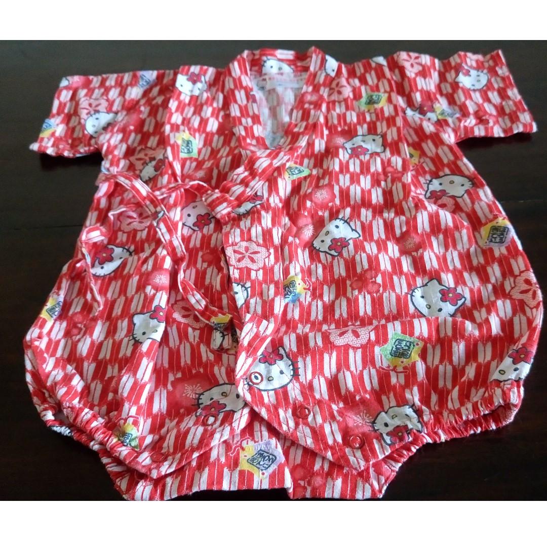 54e4a94a9 80cm- Hello Kitty Japanese style jumpsuit, Babies & Kids, Babies ...