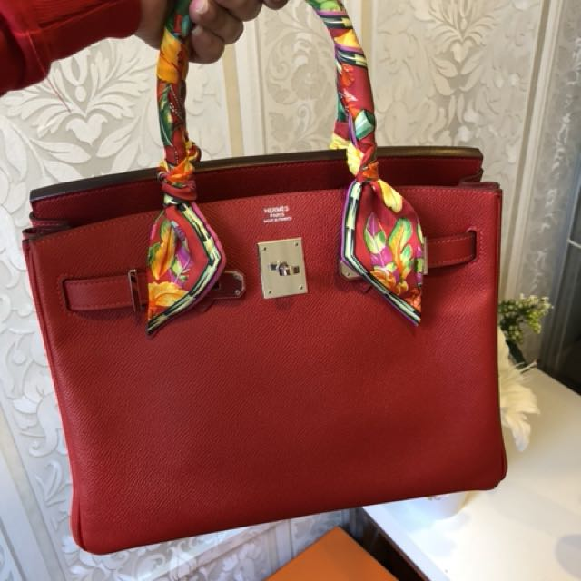 2d1ed5a92 99% NEW Hermes birkin 30 rouge casaque, Luxury, Bags & Wallets on Carousell