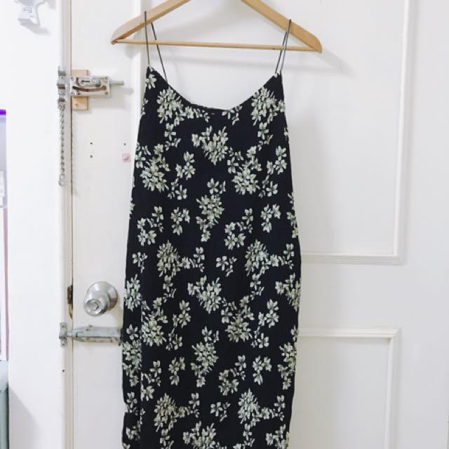 碎花背心洋裝