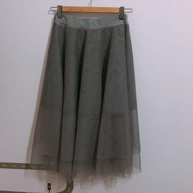 韓國紗裙(灰