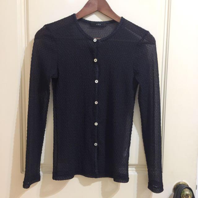 日本製 ABH 黑色網織 罩衫 適合XS~S美女