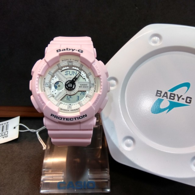 71116b55c1 * FREE DELIVERY * Brand New 100% Authentic Casio BabyG Pastel Pink & White  Baby G Ladies Casual Watch Baby-G BA110BE 4 BA110BE-4ADR