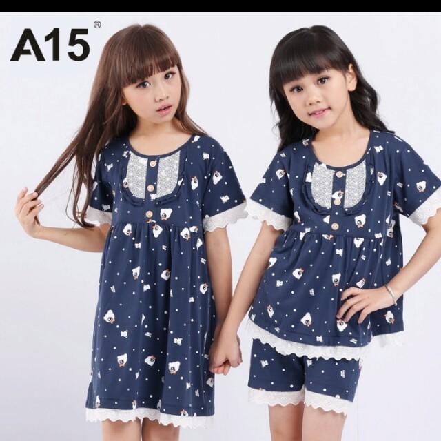 aecdf5404769 A15 Brand Sleeping Suit Toddler Girls Clothes Kids Summer Nightwear ...