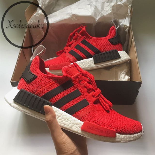 "4e1e1a3472846 adidas NMD R1 ""Core Red"""