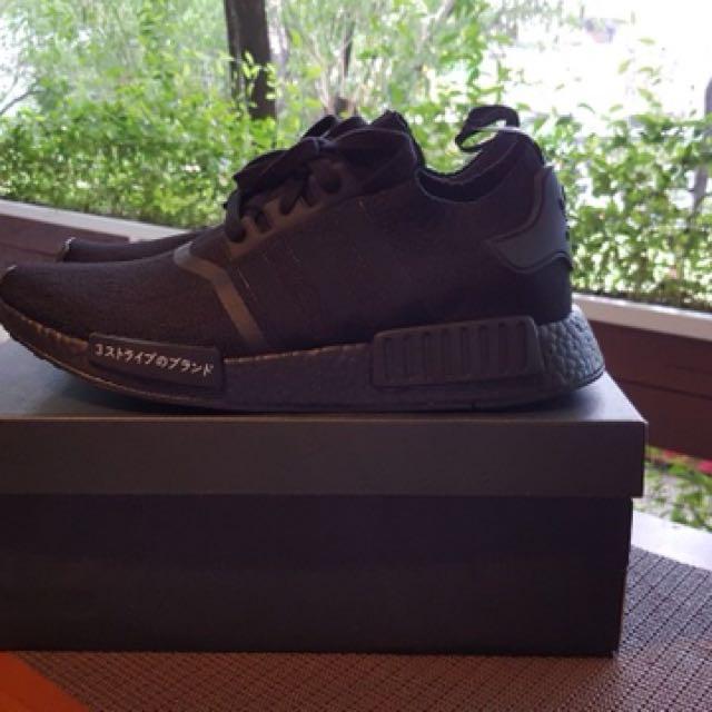 344f4874b249f Adidas NMD R1 PrimeKnit Japan Triple Black edition