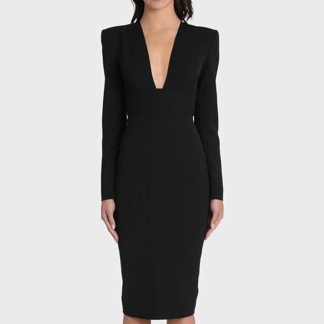 Alex Perry Black Maura Dress