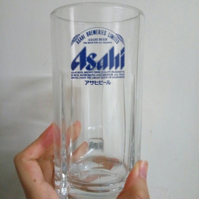 Asahi 朝日 啤酒 杯 玻璃杯 有3隻