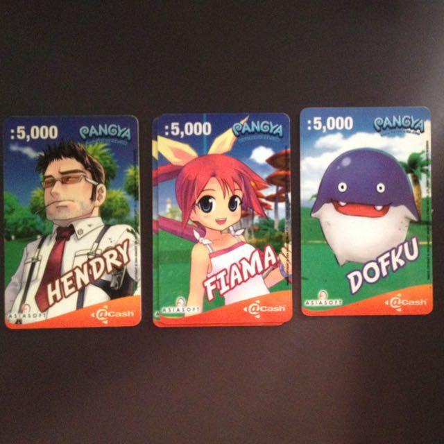 Asiasoft acash Pangya PPC @cash prepaid game card, Toys