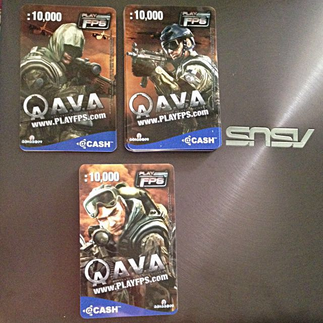 Asiasoft @cash QAva Play FPS PPC Prepaid acash game card