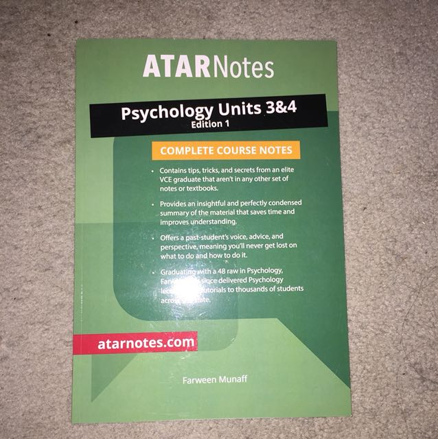 atar notes psychology 3/4