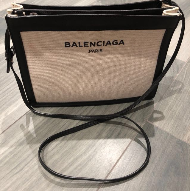 5f8538645d Balenciaga Navy Pochette, Luxury, Bags & Wallets on Carousell